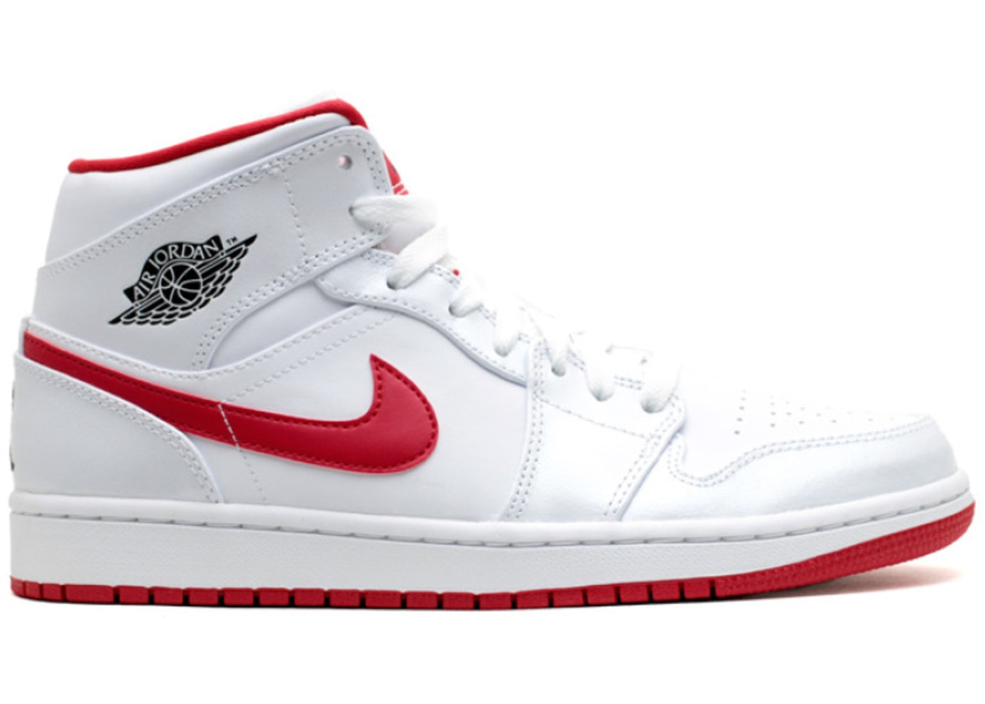 air jordans 1 red and white
