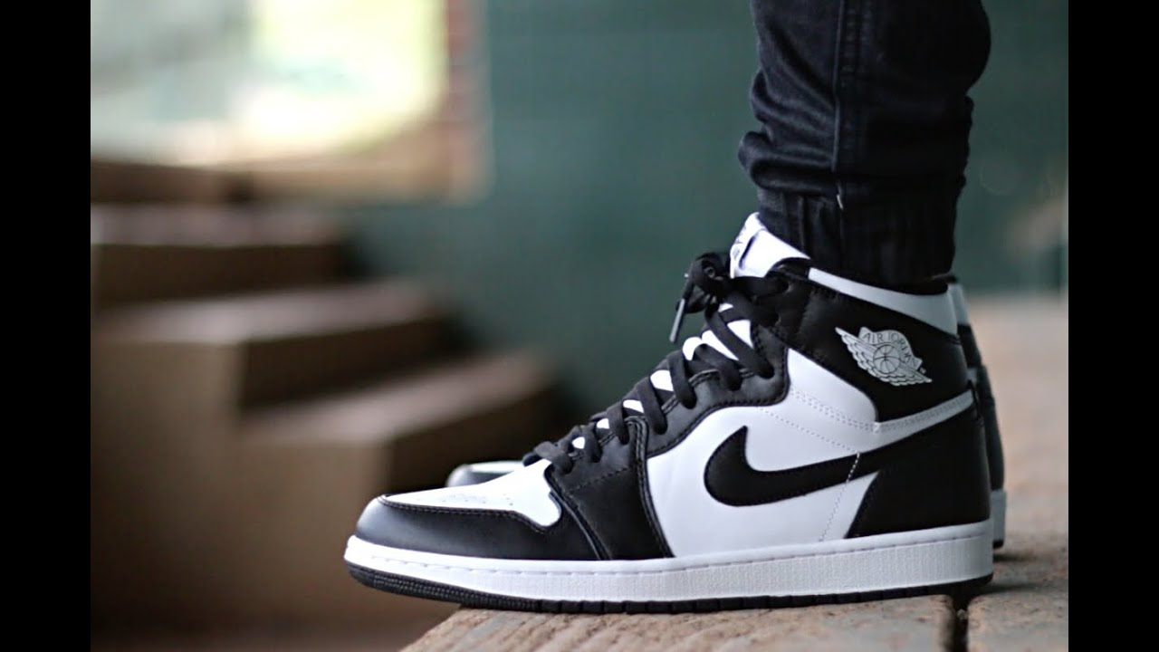 air jordans black and white